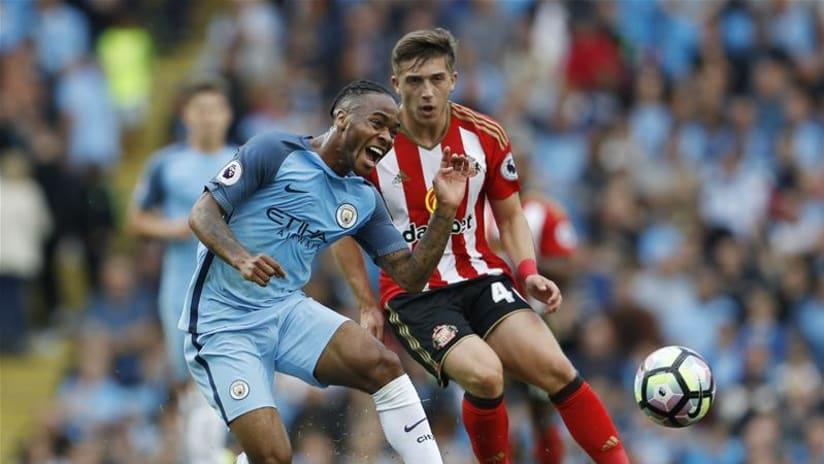 Lynden Gooch in action for Sunderland vs. Manchester City, August 13, 2016, pic 2