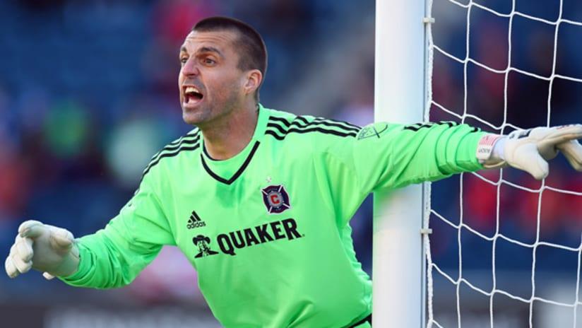 Chicago Fire goalkeeper Jon Busch