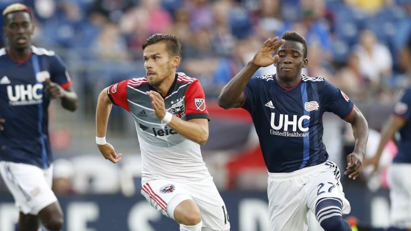 Zoltan Stieber - Luis Caicedo - DC United - New England Revolution