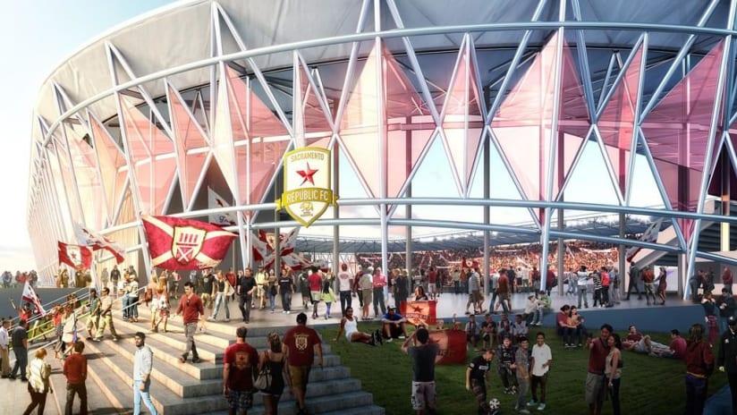 Sacramento Republic FC stadium renderings