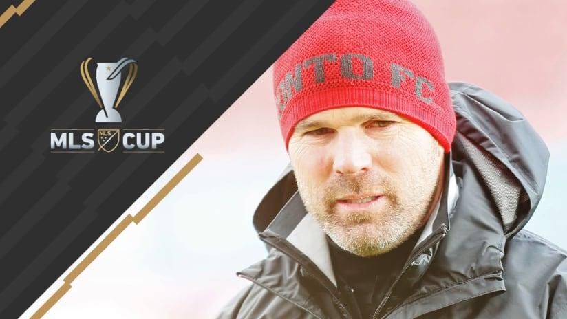 MLS Cup overlay: Greg Vanney - Toronto FC - close-up stocking cap