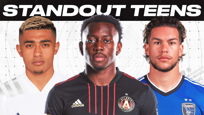 Five standout teenagers in MLS this season — by the numbers