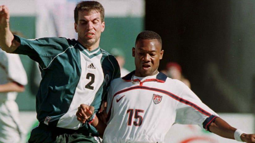 Roy Lassiter - USMNT - against Germany