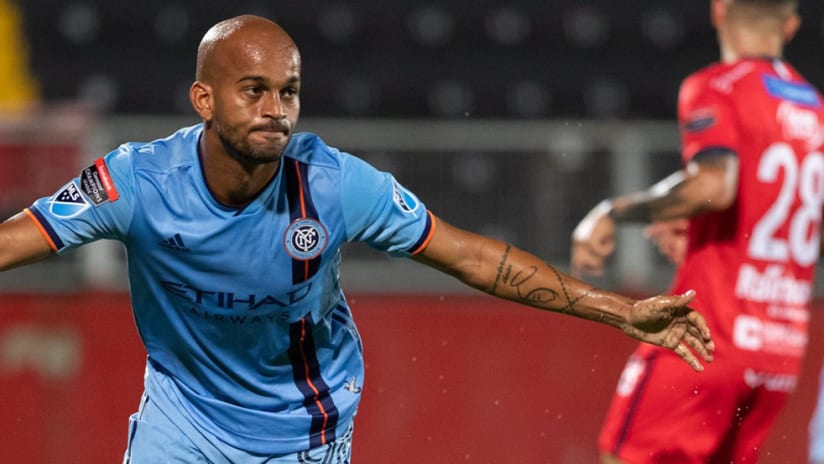 Heber - New York City FC - CCL goal celebration