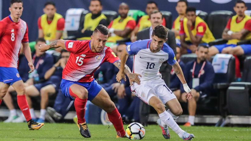 Francisco Calvo vs. Christian Pulisic - US national team vs. Costa Rica