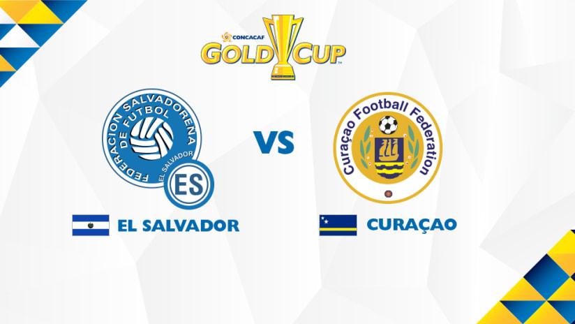 Gold Cup match image: El Salvador vs. Curacao - July 13, 2017