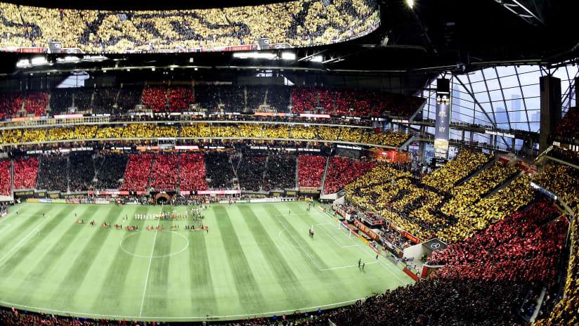 Mercedes-Benz Stadium - full stadium tifo - Atlanta United