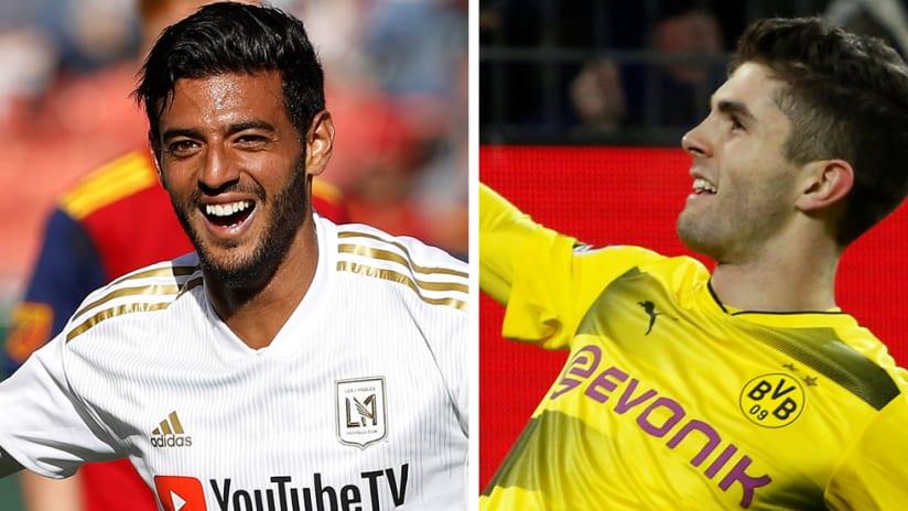 Carlos Vela, Christian Pulisic - LAFC, Dortmund - Split