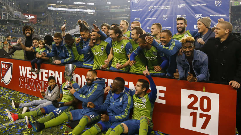 Seattle Sounders celebrate 2017 Western Conference Championship