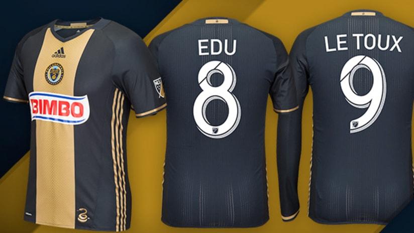 New Philadelphia Union jerseys 2016 Edu Letoux