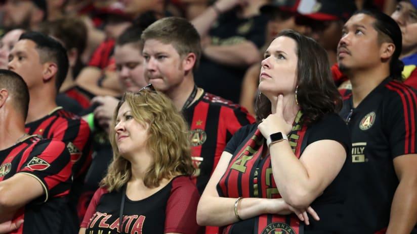 Atlanta fans pensive