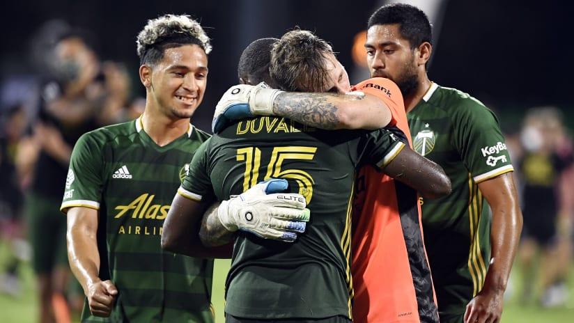 Portland Timbers celebrate vs. Philadelphia Union