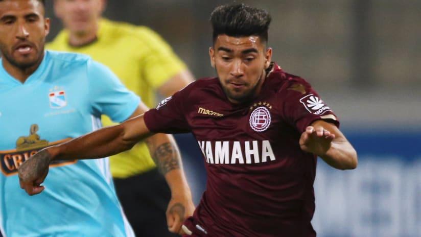 Marcelino Moreno - Lanus - Atlanta United target - in action in the 2018 Copa Sudamericana