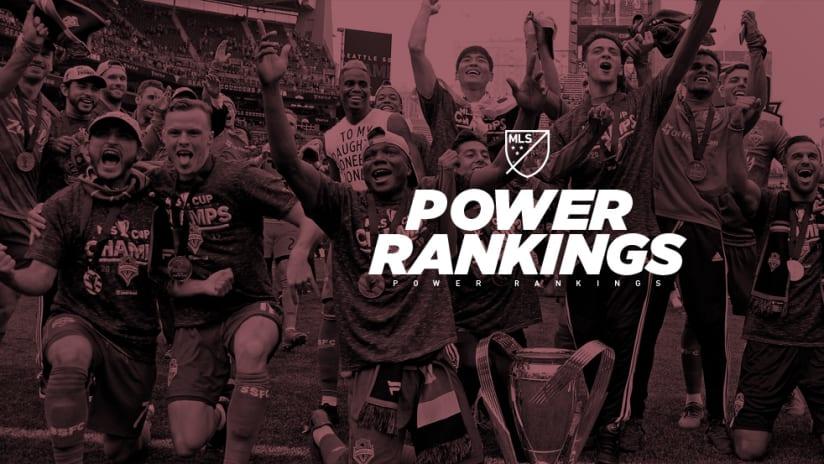 Power Rankings - Seattle Sounders - MLS Cup
