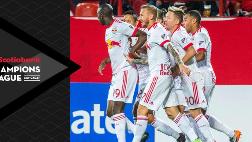 New York Red Bulls - celebrate BWP's goal vs. Tijuana - with CCL overlay