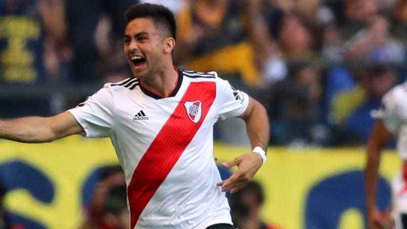 Gonzalo Martinez - Pity Martinez - River Plate - celebrates a goal vs. Boca