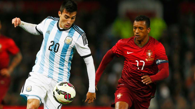Nicolas Gaitan - Argentina - controlling the ball