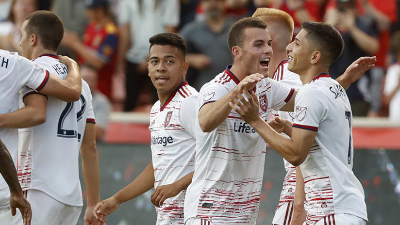 RSL celebrates – Jefferson Savarino – goal