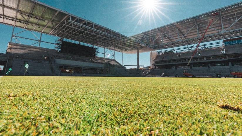 Austin FC stadium under sun
