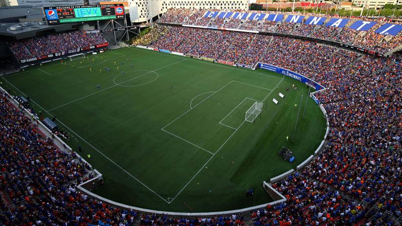 FC Cincinnati - wide-angle stadium shot - US Open Cup match vs. Columbus