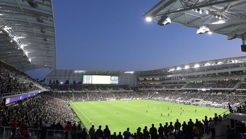 Banc of California Stadium - panoramic - inaugural match