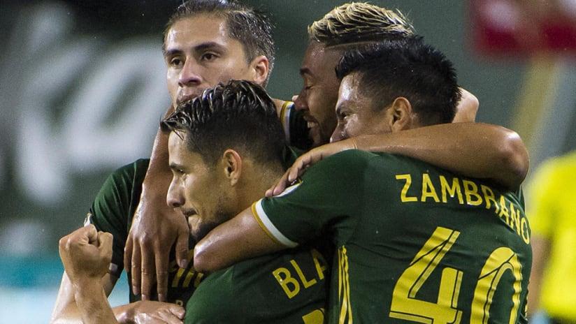 Sebastian Blanco – Portland Timbers – goal celebration