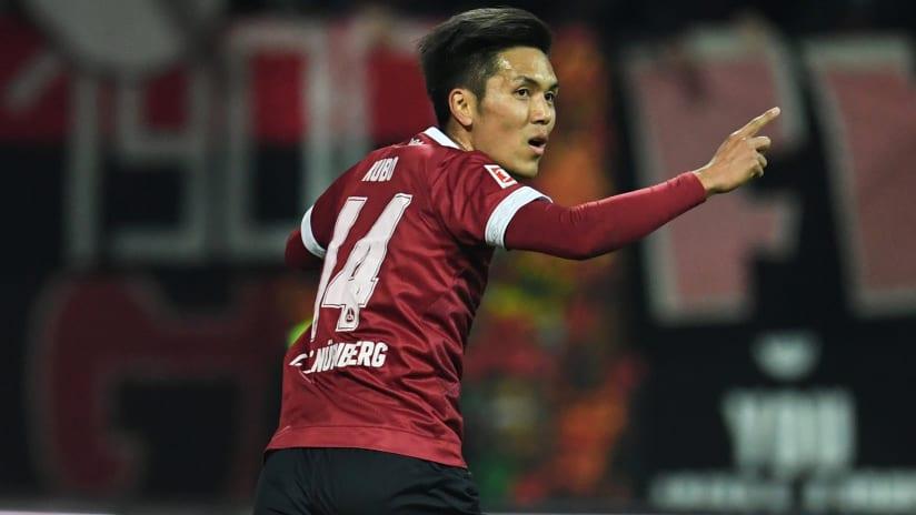Yuya Kubo - celebrates a goal for Nurnberg