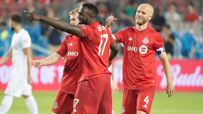Jozy Altidore - Toronto FC - celebrates a goal
