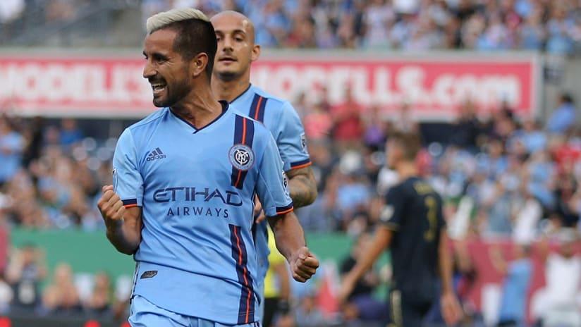 Maxi Moralez - NYCFC - goal celebration