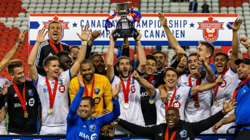 Montreal Impact - celebrate - Canadian Championship