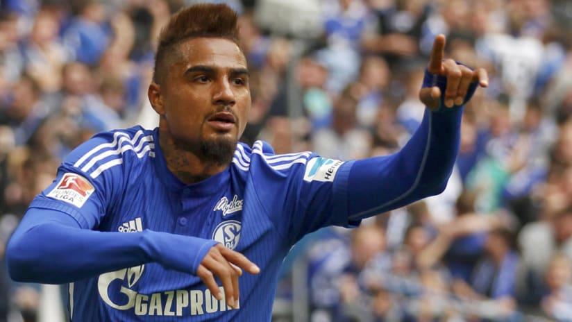 Kevin-Prince Boateng - Schalke 04 - celebrates a goal