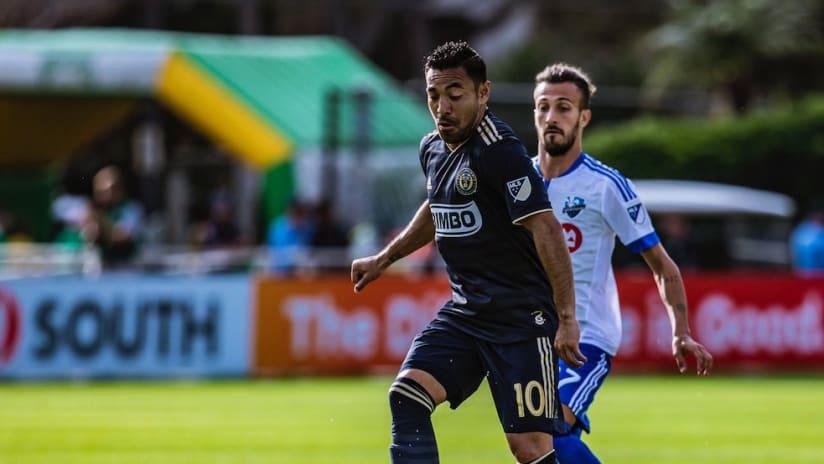 Marco Fabian on the ball vs. Montreal in preseason