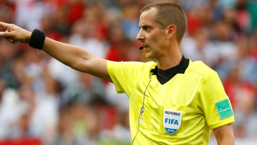 Mark Geiger - points during a World Cup match