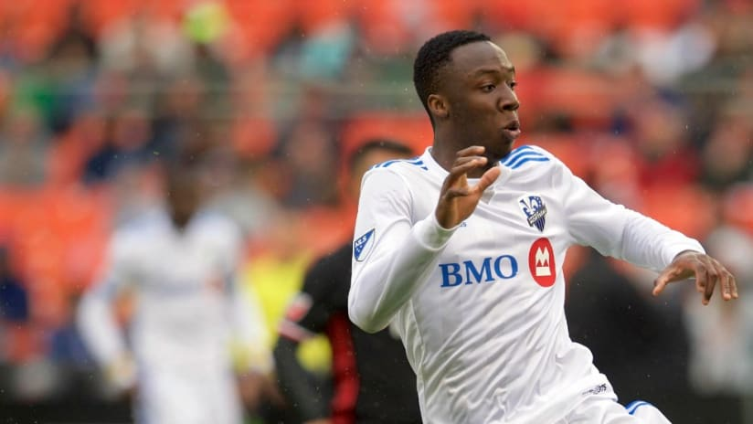 Ballou Tabla - Montreal Impact - looks on after taking a shot