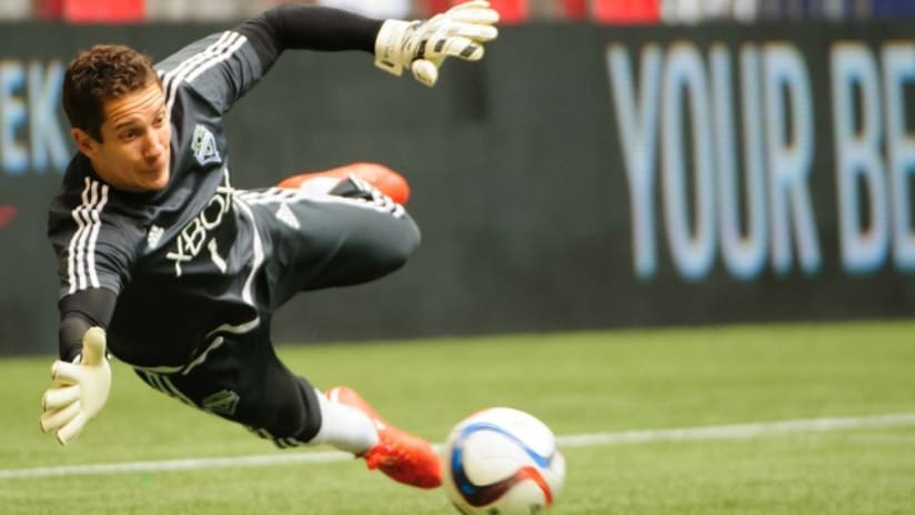 Seattle Sounders goalkeeper Troy Perkins