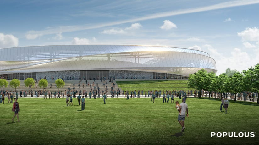 Minnesota United FC stadium rendering - For DL - South view
