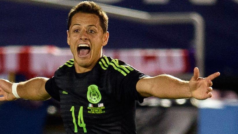 """CONCACAF Cup - Mexico - Javier """"Chicharito"""" Hernandez - Celebrates"""