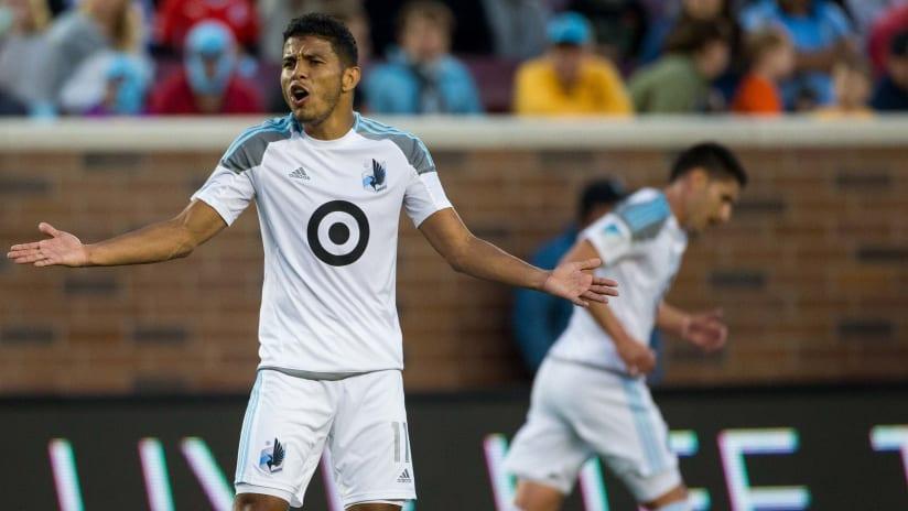 Johan Venegas - Minnesota United - arms out