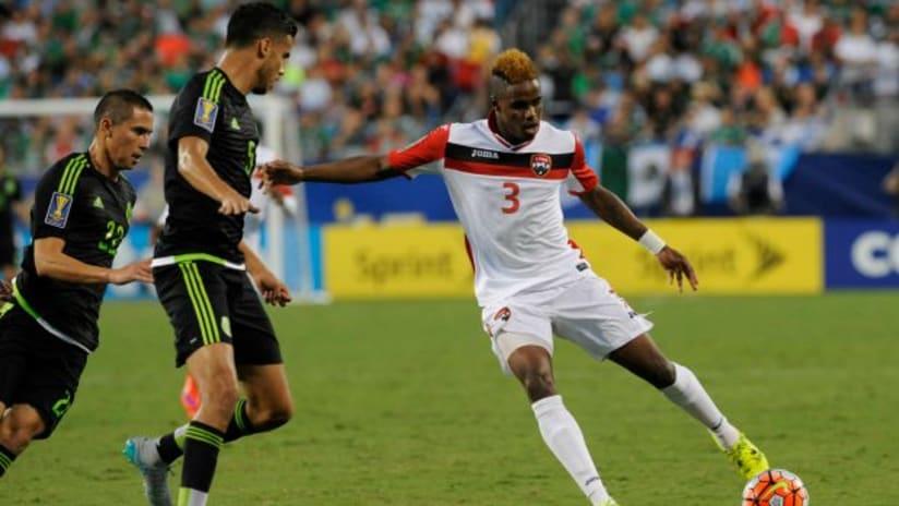 Joevin Jones (Trinidad & Tobago) in action vs. Mexico, 2015 Gold Cup