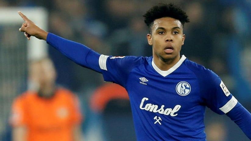 Weston McKennie - Schalke - pointing