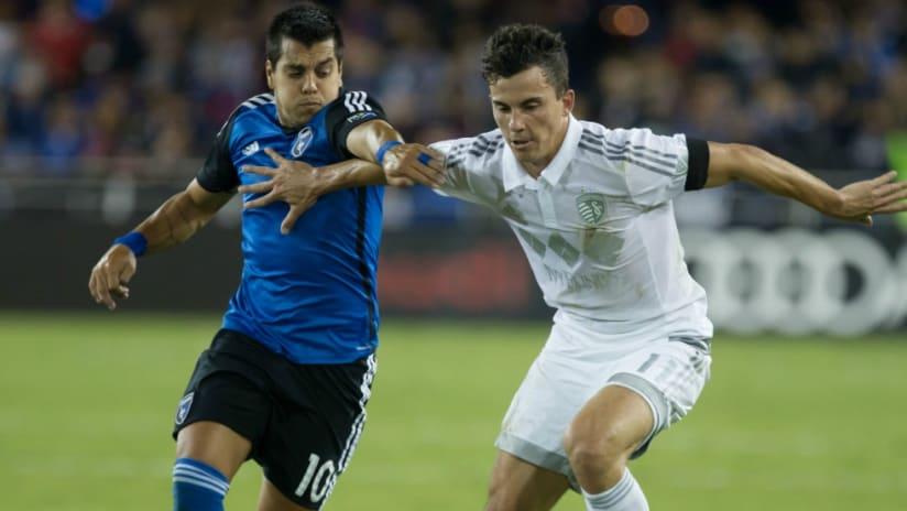 Matias Perez Garcia - Bernardo Anor - San Jose Earthquakes - Sporting Kansas City
