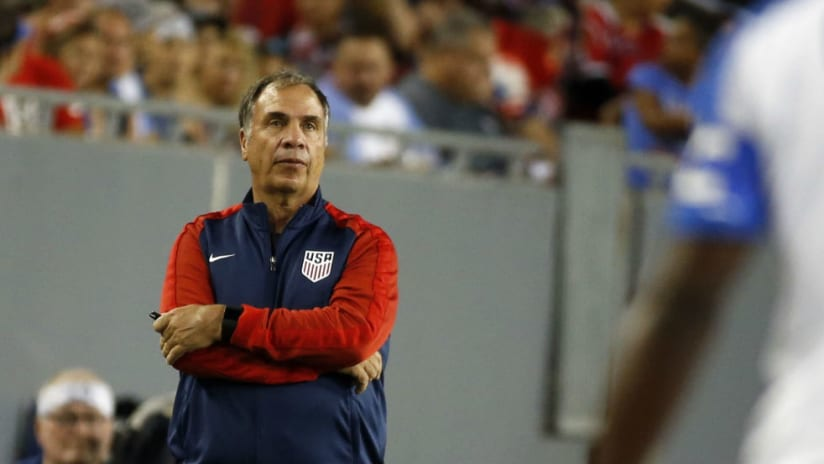 Bruce Arena -- In a Jacket -- Gold Cup