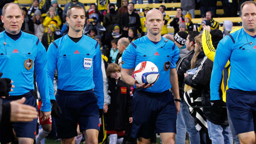 Allen Chapman - Mark Geiger - referees - 2015