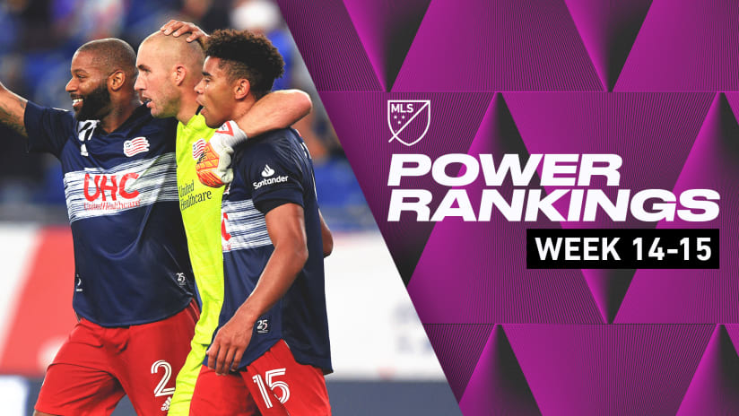 Power Rankings: New England seize top spot, Nashville SC climb after Weeks 14 and 15