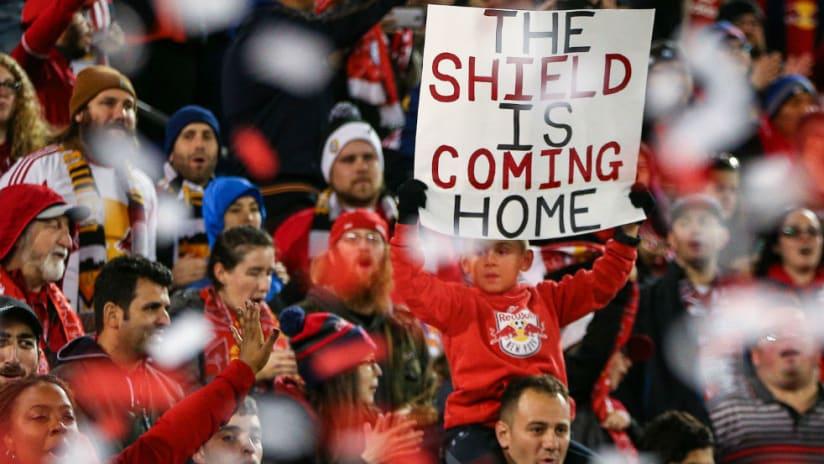 New York Red Bulls fans - Shield poster - panoramic shot