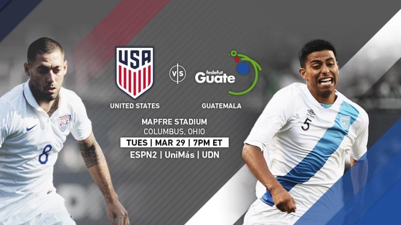 USA vs. Guatemala - March 29, 2016 Match Image