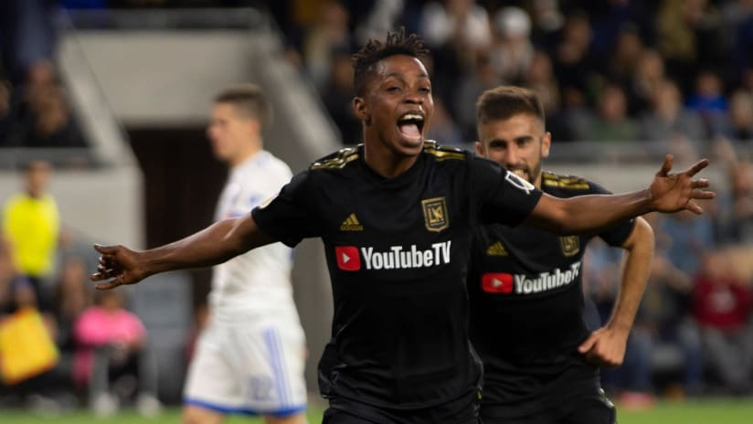 Latif Blessing scores goal - LAFC