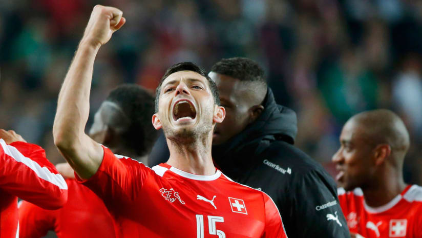 Blerim Dzemaili - Switzerland - Celebrates victory with fist pump