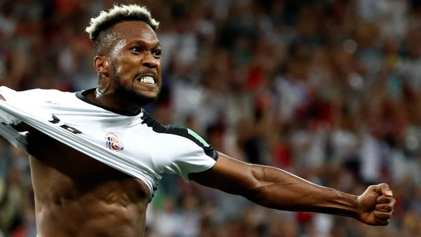 Kendall Waston - Costa Rica - 2018 World Cup - celebrates goal