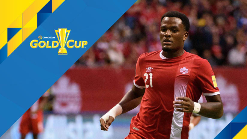 Gold Cup overlay: Cyle Larin - Canada - close-up